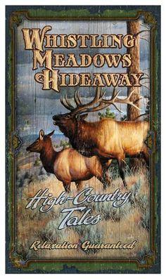 whistling meadows vintage hunting sign - Custom Vintage Signs