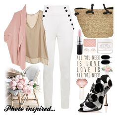 """Photo inspired...pink peopnies"" by bleucabbage ❤ liked on Polyvore featuring Manolo Blahnik, Kendra Scott, Chloé, nuLOOM, Sugarboo Designs, Nearly Natural, Sun N' Sand, Herbivore, MAC Cosmetics and Calypso St. Barth"