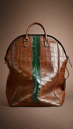 "Burberry Prorsum A/W 2014 ""THE ST IVES IN STRIPED ALLIGATOR"" bag"