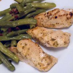 Pipapo Paleo: Rezept: Senfhähnchen und Speckböhnchen