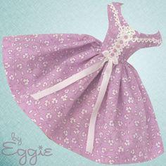 Sweet Violet-Vintage Barbie Doll Dress Reproduction Repro Barbie Clothes Fashion