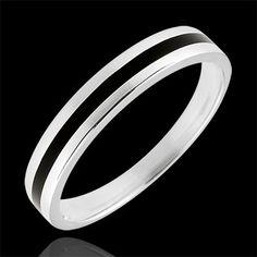 Alliance or Capitaine - or blanc (Alliances Mariage) : bijoux edenly