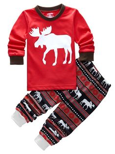 dd0ce372b99b 40 Best Christmas Clothing Sets Toddler Boys And Girls Long Sleeve ...