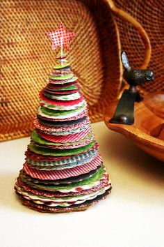 Upcycled Christmas Cards -- Cute!  O Christmas Tree #howto #tutorial