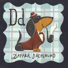 Dapper Dachshund Art Print by Ryan O'Rourke