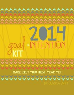 2014 PRINTABLE Goal + Intention kit by Jessica Swift on Etsy, $15.00