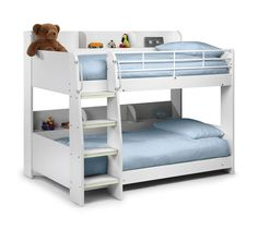 Domino White Children's Bunk Bed Frame - Free Next Day Delivery