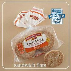 """Sandwich Flat Winner  And the winner of the sandwich flat category is:   Pepperidge Farm Deli Flats 7 Grain    Per bun: 100 cal., 1 g total fat (0 g sat. fat), 170 mg sodium, 19 g carb., 5 g fiber    Taster's comment: """"This one has the best overall flavor. It's soft, sweet, and nutty."""""""