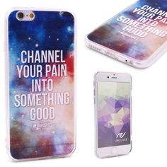 CHANNEL YOUR PAIN INTO SOMETHING GOOD - Urcover® Semi Softcase Hülle   Apple iPhone 6 / 6s   TPU Muster Channel your pain   Kamera-Schutz   Handyhülle   Cover Backcase Handyschutz 7,90€