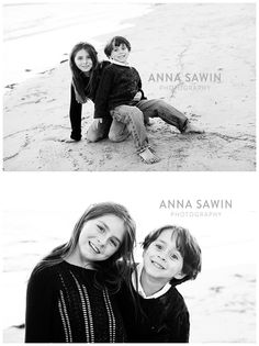Beach sessions! Watch Hill, RI Napatree Point  black and white family photos Family photo sessions by Anna Sawin Photography www.annasawin.com