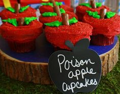 Snow White's Apple Cupcakes -- Real Party Feature: Snow White Party by The Sugar Therapist