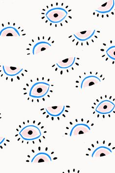 Eyes painterly pattern