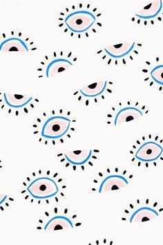 Eyes painterly pattern