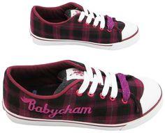 Babycham Women's Mindy Check Textile Trainers: Amazon.co.uk: Shoes & Bags