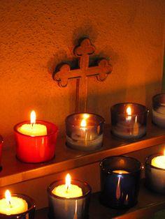 """Church candles.    """":O)"""
