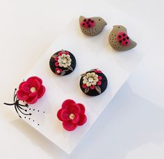 Polymer Clay, Earring Set on Etsy | Flickr - Photo Sharing!