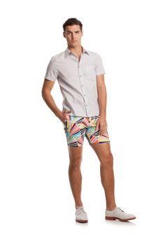 FERNANDO SHIRT - TrinaTurk Mr Turk, Clean Shaven, Trina Turk, Patterned Shorts, Casual Shorts, Men Casual, Mens Fashion, Short Shorts, My Style