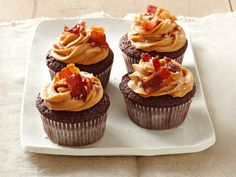Chocolate-Bacon Cupcakes with Dulce De Leche Frosting recipe from Food Network Kitchen via Food Network