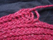 mammenstitchkleincopy.jpg Nalbinding - a precursor of knitting, possibly more closely related to fish net knotting, but used to make hats, socks, and mittens for centuries