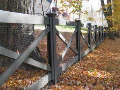 Redding picket fence, stonewall, and cross buck rail fence - farmhouse - Landscape - New York - Britain Fence LLC