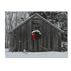 Artist: Kurt Shaffer Title: 'Christmas Barn in the Snow' Product type: Giclee, gallery wrapped