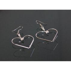 Sterling Silver Hearts Sterling Silver Earrings, Cufflinks, Panda, Hearts, Accessories, Jewelry, Jewlery, Jewerly, Schmuck