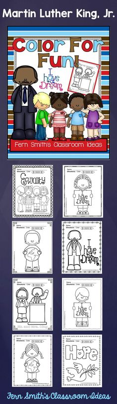 FREE Martin Luther King, Jr. Color For Fun Printable Coloring Pages