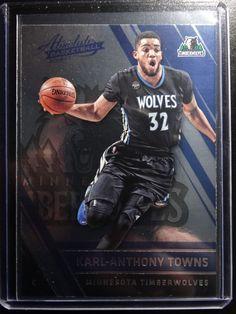2016-17 Panini Absolute #29 Karl Anthony Towns Minnesota Timberwolves Card #MinnesotaTimberwolves