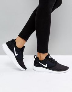 9f368cd108e4 Nike Running Lunarsolo Trainers In Black And White at asos.com