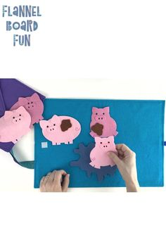 Five Muddy Pigs Circle Time Felt Board Set Farm theme! Five Muddy Pigs Circle Flannel Board Stories, Felt Board Stories, Felt Stories, Flannel Boards, Kindergarten Songs, Preschool Songs, Farm Activities, Preschool Activities, Farm Animals Preschool