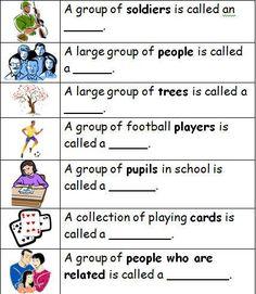 Collective Nouns Worksheet Circling Part 1 Beginner | Teacherlinx ...