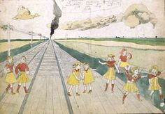 Henry Darger, Vivian Girls crossing railroad tracks