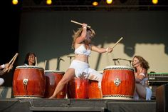 Drumming Goddess, Michigan Women's Music Festival (Dance Brigade)