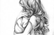 Tender Moment Mother Holding Child Drawing