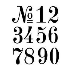 Number Stencil 3 Harrington Font Numbers 0 9 For Painting Signs