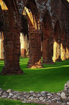 Scotland, ruins of Sweetheart Abbey, Dumfries... Tap on pic for additional info