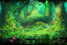 forest digital painting - Cerca con Google