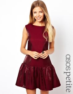ASOS PETITE Exclusive Drop Waist Metallic Dress $92.82