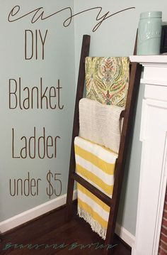Easy Diy Blanket Ladder Quilt Ladder Diy Blanket Ladder Blanket Storage Ladder Decor
