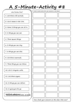 A good filler, warm-up activity or end of lesson ws. Kids love games so why not try this ws. There are seven brfore this one -in case you like it! - ESL worksheets