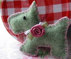Scottie love Wool Felt Brooch by RubyRed06, via Flickr