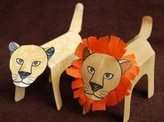 lion crafts kids | Indesign Arts and Crafts