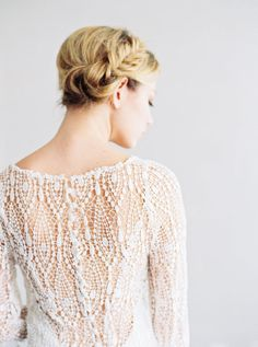Sofia- Venise Lace & Silk Wedding Dress By SaintIsabel
