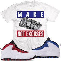 f04004415564 Jordan 10 Westbrook Match Sneaker Tees Shirt - EXCUSES
