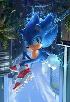 Sonic by miitara on DeviantArt Sonic The Hedgehog, Hedgehog Movie, Hedgehog Art, Shadow The Hedgehog, Sonic The Movie, Sonic Unleashed, Rouge The Bat, Sonic Mania, Sonic Fan Characters