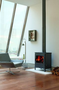 Chesney's contemporary Shoreditch multifuel stove.