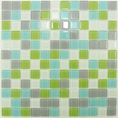 Grey Green Turquoise White Glass Mosaic Tile by Nerino, http://www.amazon.com/dp/B001TJ6NRU/ref=cm_sw_r_pi_dp_u8Wfrb1P2Q67M