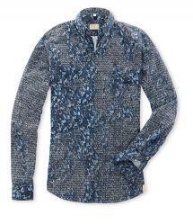 Q1 Hemd SANDRO Druck in Camouflage in Blau in 100% Baumwolle Camouflage, Men Sweater, Sweaters, Shopping, Fashion, Fall Winter, Blue, Cotton, Moda