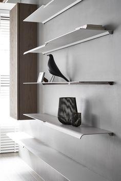 Cheese on Behance Cabinet Shelving, Metal Shelves, Display Shelves, Wall Shelves, Cabinet Furniture, Metal Furniture, Furniture Design, Shelving Design, Bookshelf Design