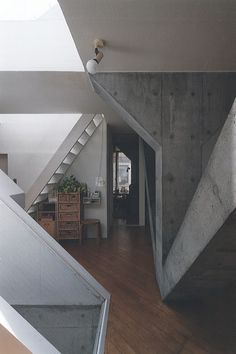 House in Uehara by Kazuo Shinohara 1976 Modern Japanese Architecture, Japan Architecture, Interior Architecture, Best Interior, Interior Design, Concrete Wood, Famous Architects, Piece A Vivre, Japanese House